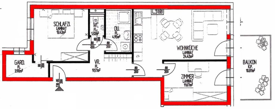 Plan MW 68 m²
